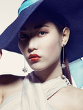 Asian beauty in hat Royalty Free Stock Photos