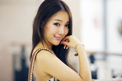 Asian beauty indoor portrait stock image