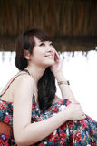 Asian beauty outdoor. Charming Asian beauty outdoor  portrait Stock Photo