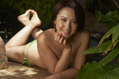 Asian Beauty Outdoor Royalty Free Stock Images