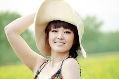 Asian beauty outdoor portrait Royalty Free Stock Images