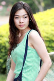 Asian beauty outdoors Royalty Free Stock Images