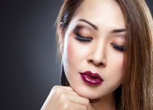 Asian beauty with perfect skin stock image