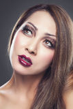 Asian beauty with perfect skin stock photos