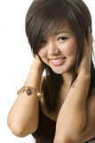 Asian beauty portrait. With white background Stock Images