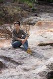 Asian Beauty portrait at Cataract Royalty Free Stock Photography
