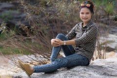 Asian Beauty portrait at Cataract Royalty Free Stock Image