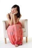Asian beauty sit Royalty Free Stock Photo