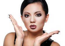 Asian beauty in a strong makeup Stock Photography