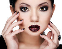 Asian beauty in a strong makeup Royalty Free Stock Photos