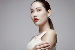 Asian beauty in studio Royalty Free Stock Photos