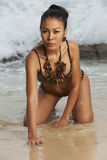 Asian Beauty On Sunny Beach Royalty Free Stock Photo