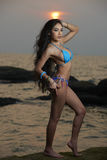 Asian Beauty At Thailand Beach Royalty Free Stock Image