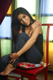 Asian Beauty At Window Royalty Free Stock Photos