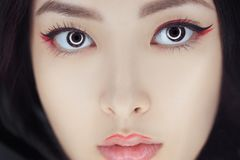 Asian beauty woman with creative make-up. Close-up portrait. stock photo