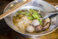 Asian beef noodle stock photo