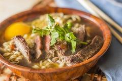 Asian Beef Ramen Stock Photography