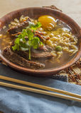 Asian Beef Ramen Royalty Free Stock Photos