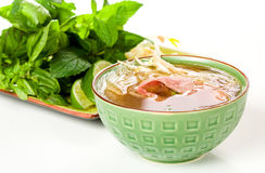 Asian Beef Soup Stock Photography