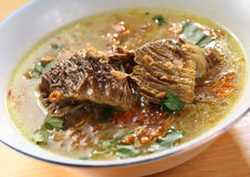 Asian Beef soup. Indonesian beef soup, known as Soto royalty free stock image