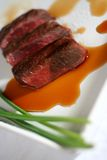Asian Beef Strips in Sauce royalty free stock photography