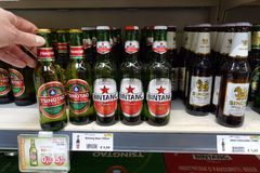 Asian beer brands royalty free stock image