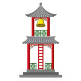 Asian bell tower. An illustration of an Asian style bell tower Royalty Free Stock Images