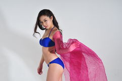 Asian Bikini Girl Royalty Free Stock Image