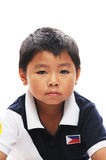 Asian Boy looks grumpy. Asian boy from philippines looks grumpy Stock Images