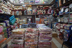 Africa Blankets Trading Shops Royalty Free Stock Photo