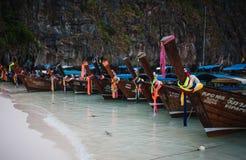 Asian boats in thailand phuket Royalty Free Stock Photo