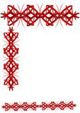 Asian borderin 3d. 3d border and separator in 3d and red  on white Royalty Free Stock Image