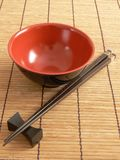 Asian Bowl and Chopsticks Royalty Free Stock Photography