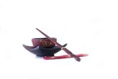 Asian Bowl and Chopsticks Royalty Free Stock Photos