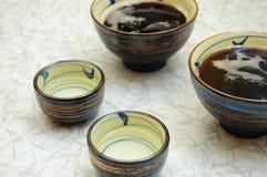 Asian bowls Stock Image