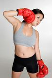 Asian Boxing Woman Stock Images
