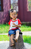 Asian Boy. Play is every child's nature Stock Photo