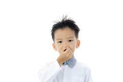Asian boy action Stock Photography