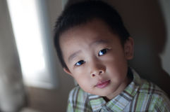 Asian boy with available light Stock Images