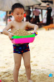 Asian boy at beach Royalty Free Stock Images
