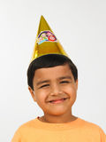 Asian boy in birthday party Royalty Free Stock Images