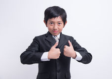 Asian boy businessman Royalty Free Stock Photo