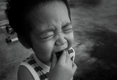 Asian boy cry Stock Images