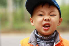 Asian boy is crying  Stock Photos