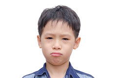 Asian boy crying Stock Image