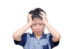 Asian boy crying Stock Images