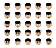 Asian Boy Emotion Faces  Stock Photo