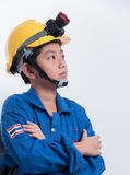 Asian boy engineer Stock Photography