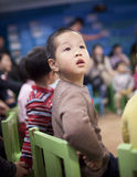 Asian boy enjoying the preschool class Stock Photo