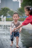 Asian Boy and girl Royalty Free Stock Images